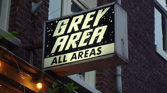 Grey Area Sign
